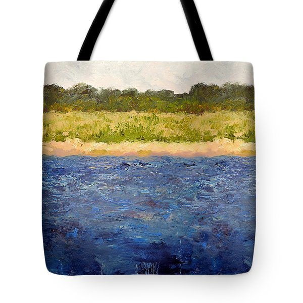 Tote Bag featuring the painting Coastal Dunes - Square by Michelle Calkins