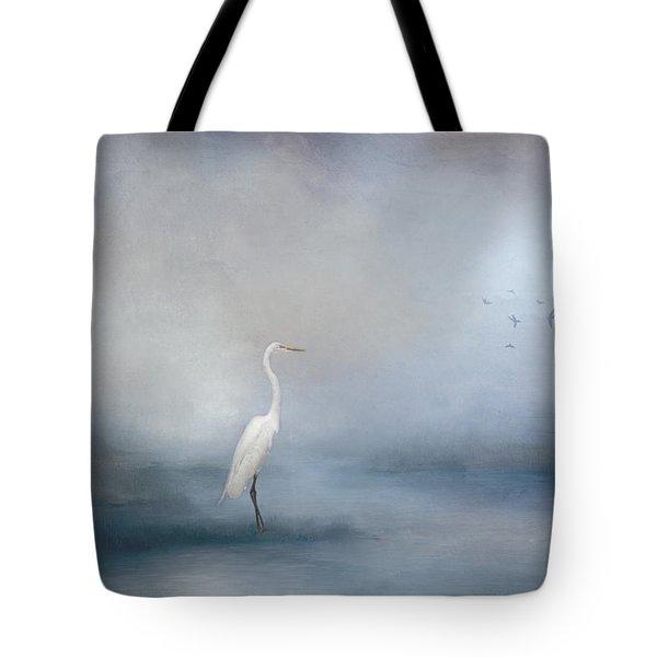 Coastal Egret Tote Bag