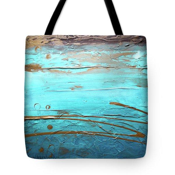 Coastal Escape I Textured Abstract Tote Bag