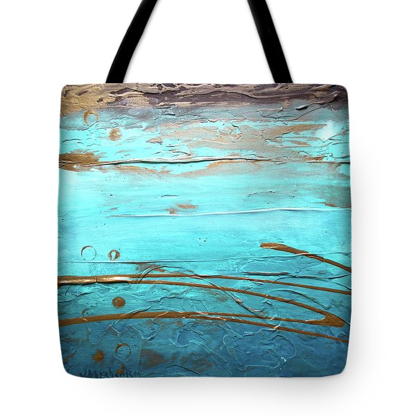 Coastal Escape I Textured Abstract Tote Bag