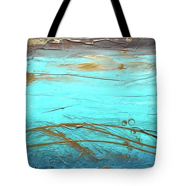 Coastal Escape II Textured Abstract Tote Bag