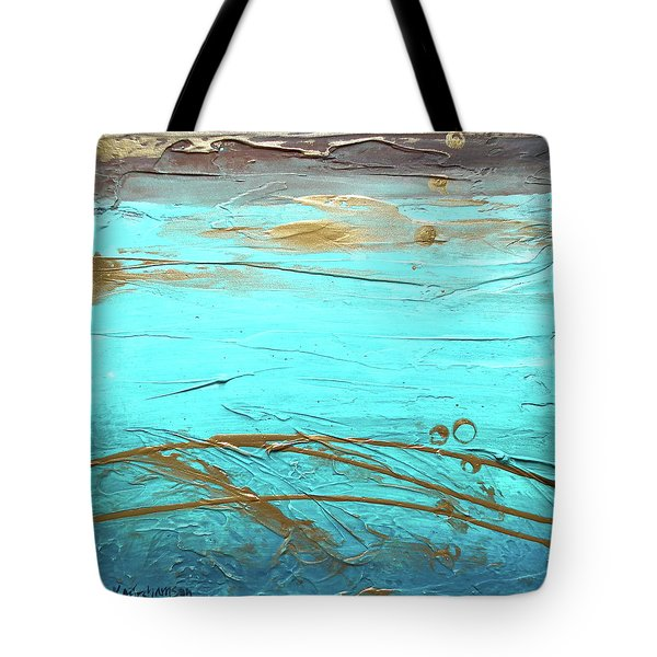 Coastal Escape II Textured Abstract Tote Bag