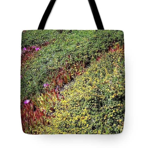 Coastal Flowers And Ice Plant Tote Bag