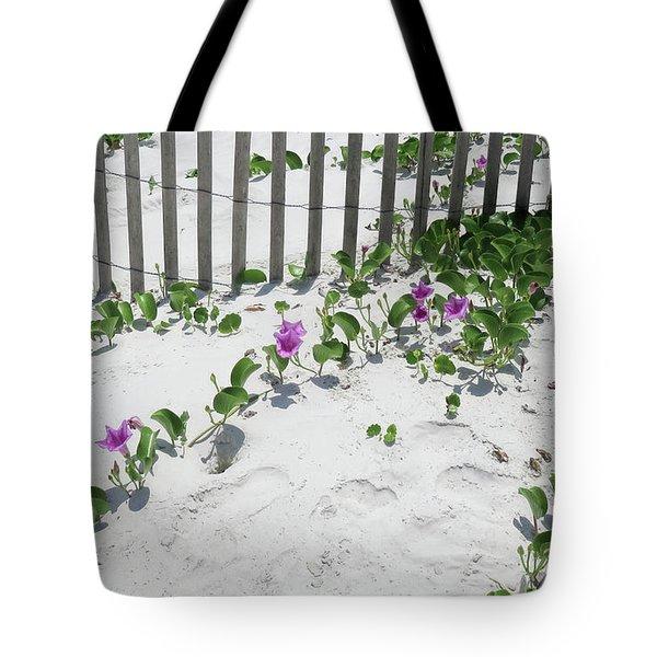 Coastal Flowers Tote Bag