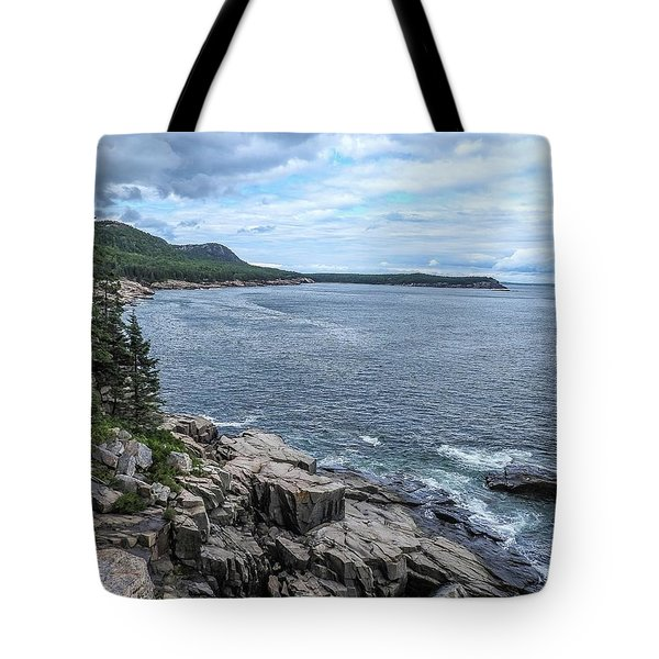 Coastal Landscape From Ocean Path Trail, Acadia National Park Tote Bag