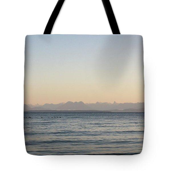 Coastal Mountains At Sunrise Tote Bag