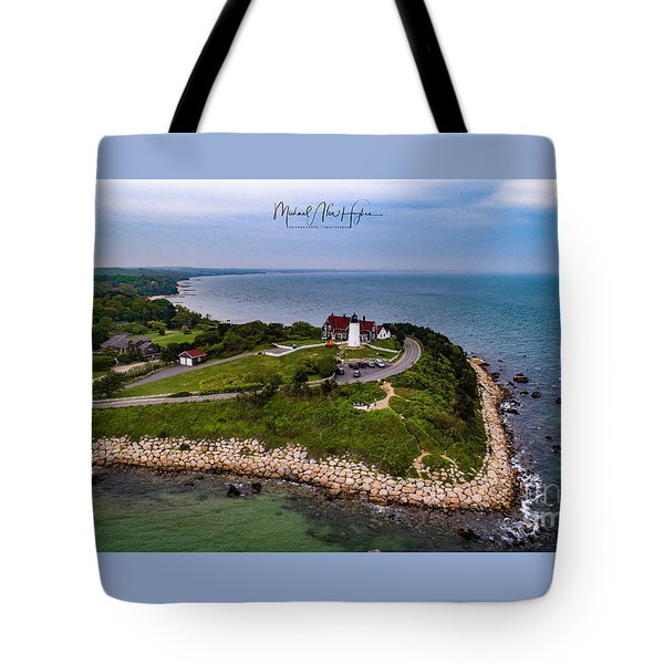 Coastal Nobska Point Lighthouse Tote Bag