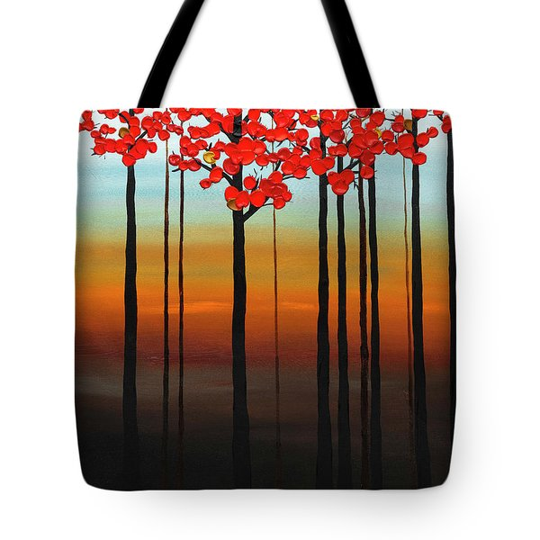 Tote Bag featuring the painting Coastal Radiance by Carmen Guedez