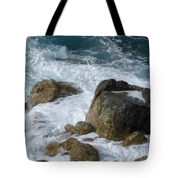Coastal Rocks Trap Water Tote Bag