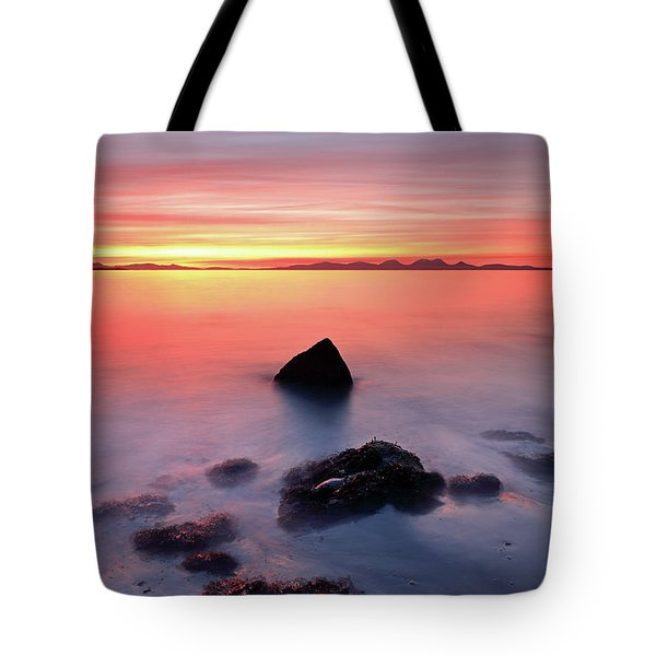 Tote Bag featuring the photograph Coastal Sunset Kintyre by Grant Glendinning