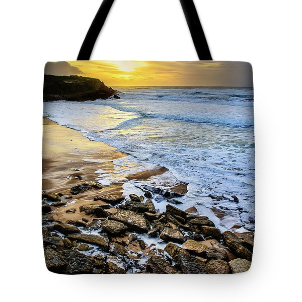 Coastal Sunset Tote Bag by Marion McCristall