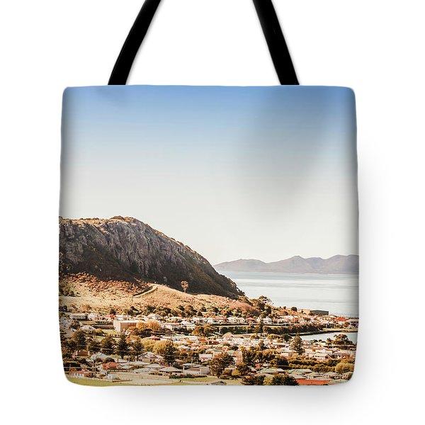 Coastal Tasmanian Town Tote Bag