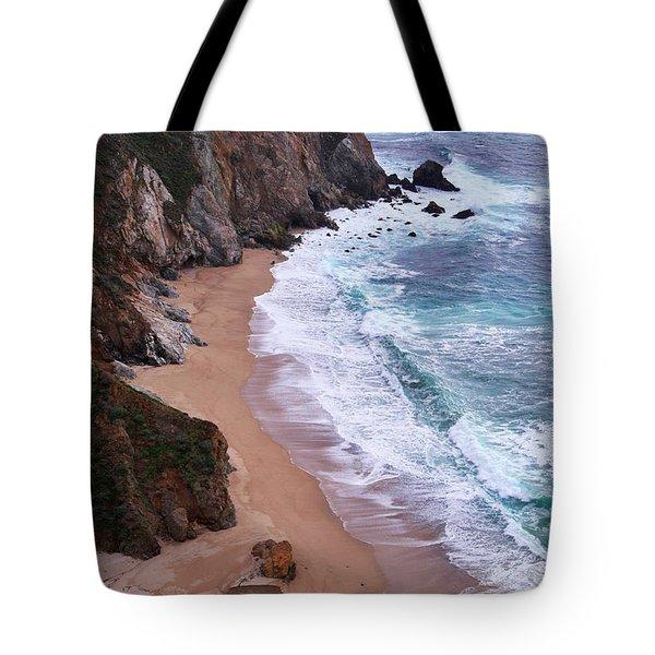 Coastal View At Big Sur Tote Bag