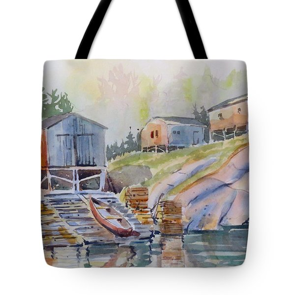 Coastal Village - Newfoundland Tote Bag