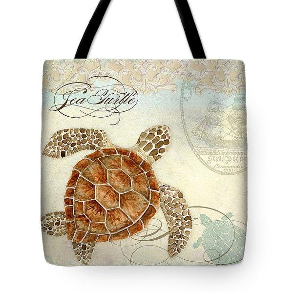 Coastal Waterways - Green Sea Turtle 2 Tote Bag