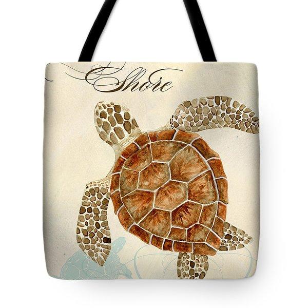 Coastal Waterways - Green Sea Turtle Tote Bag