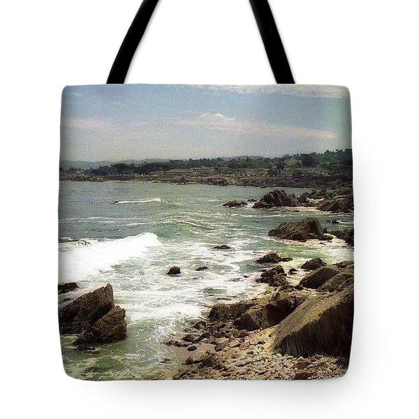 Coastal Waves And Rocks Tote Bag