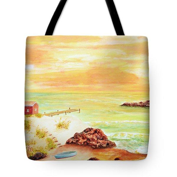 Coastline Lighthouse Tote Bag