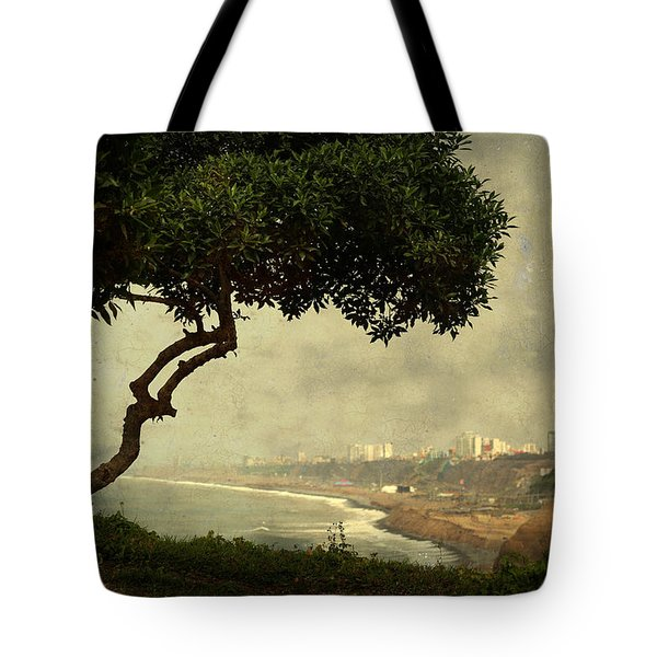 Coastline Of Lima, Peru Tote Bag
