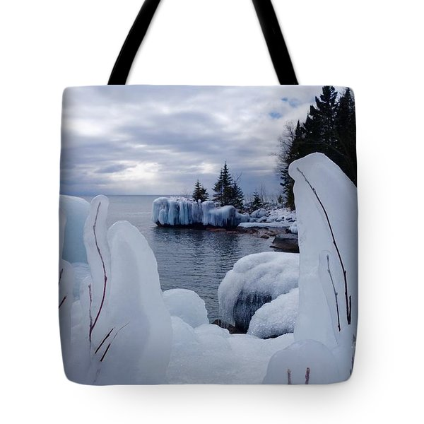 Coated With Ice Tote Bag by Sandra Updyke