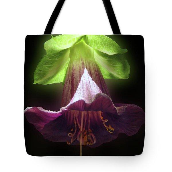 Cobaea Scandens Glowing Tote Bag