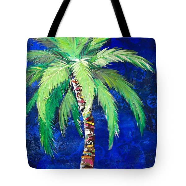 Cobalt Blue Palm II Tote Bag