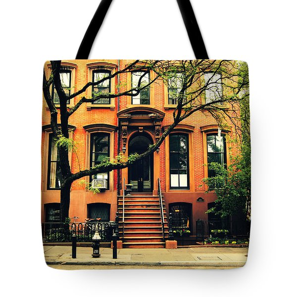 Cobble Hill Brownstones - Brooklyn - New York City Tote Bag by Vivienne Gucwa