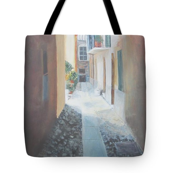Cobblestone Alley Tote Bag