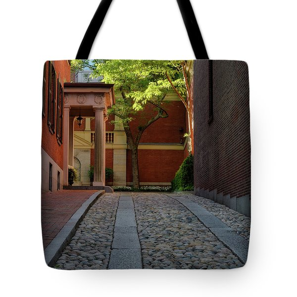 Tote Bag featuring the photograph Cobblestone Drive by Michael Hubley