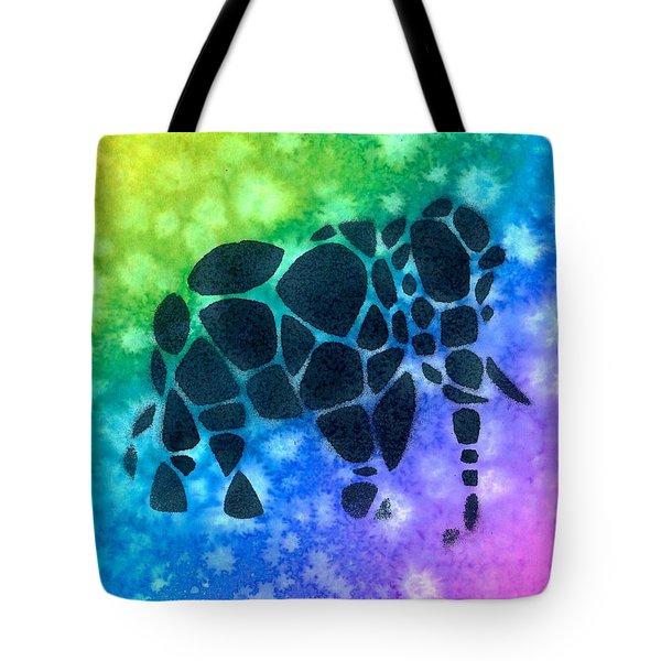 Cobblestone Elephant 1 Tote Bag