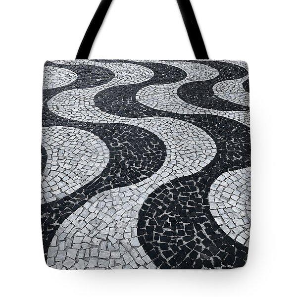Cobblestone Waves Tote Bag