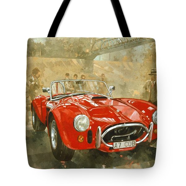 Cobra At Brooklands Tote Bag by Peter Miller