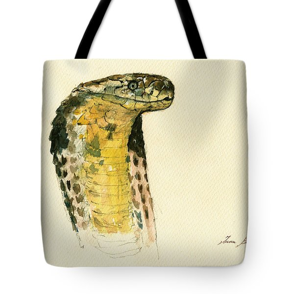Cobra Snake Poster Tote Bag by Juan  Bosco
