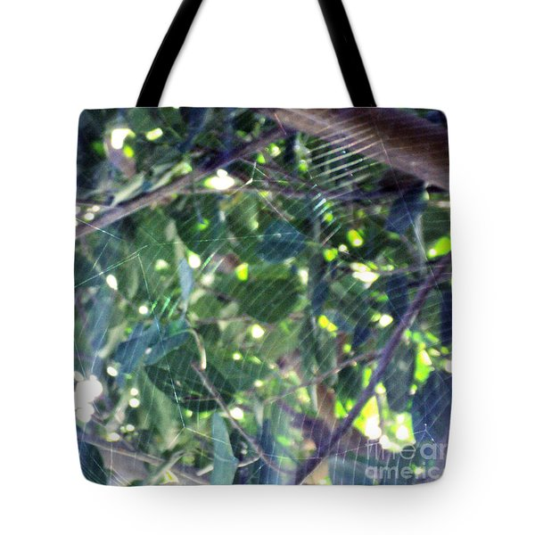 Tote Bag featuring the photograph Cobweb Tree by Megan Dirsa-DuBois