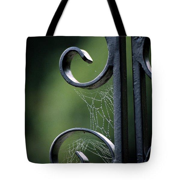 Cobwebs On Gate Tote Bag