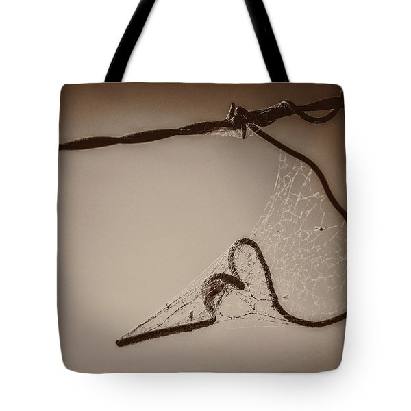 Tote Bag featuring the photograph Cobwebs On My Heart by Mary Hone