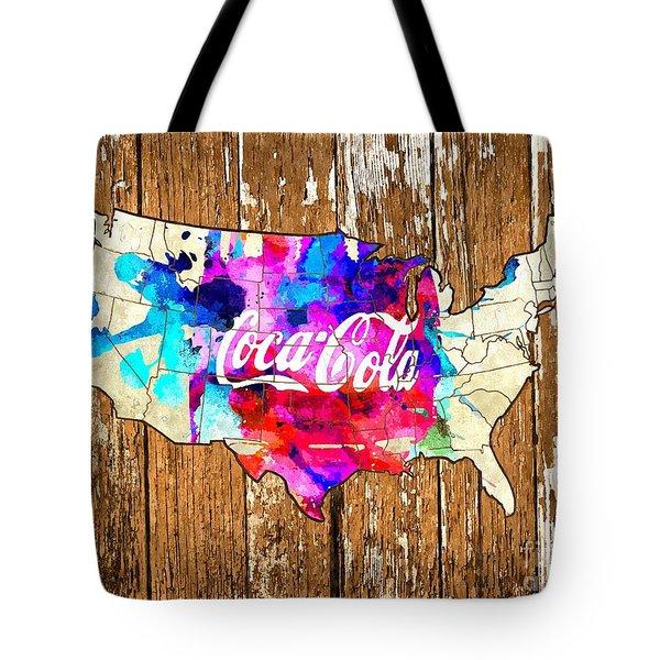 Coca Cola America Tote Bag