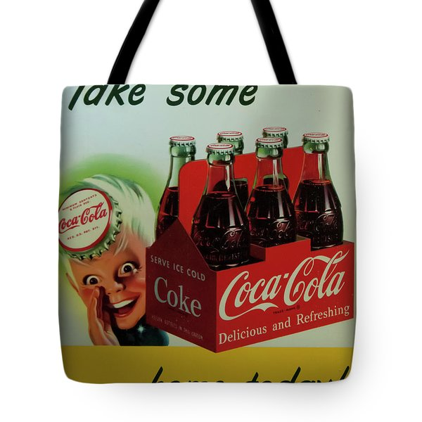 Tote Bag featuring the photograph Coca Cola Antique Sign by Chris Flees