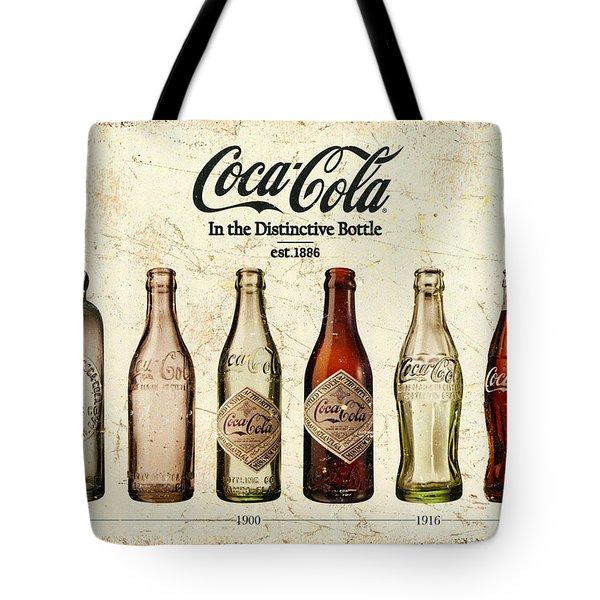 Coca-cola Bottle Evolution Vintage Sign Tote Bag