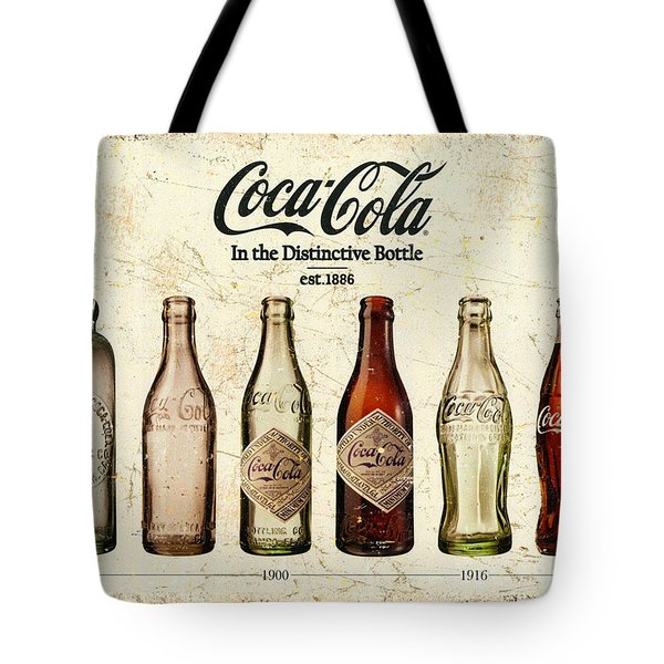 Coca-cola Bottle Evolution Vintage Sign Tote Bag