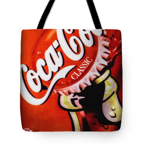 Tote Bag featuring the photograph Coca Cola Classic by Bob Orsillo