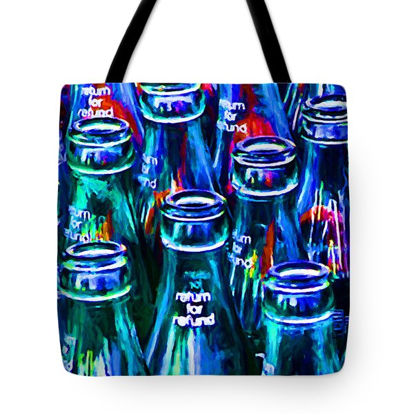 Coca-cola Coke Bottles - Return For Refund - Painterly - Blue Tote Bag
