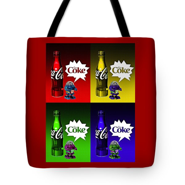 Tote Bag featuring the photograph Coca-cola Forever Young 12 by James Sage
