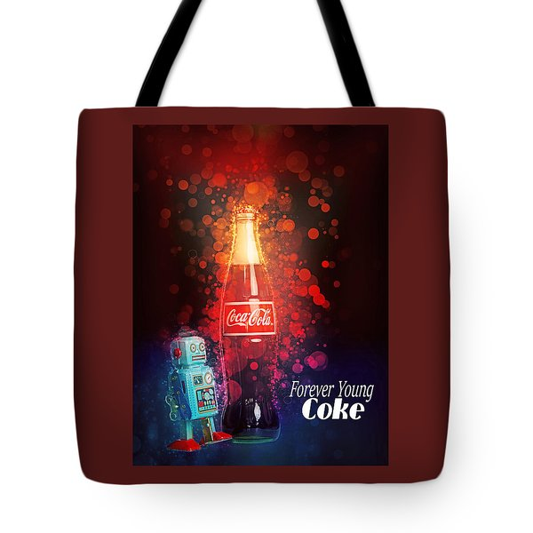 Tote Bag featuring the photograph Coca-cola Forever Young 15 by James Sage