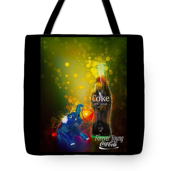 Tote Bag featuring the photograph Coca-cola Forever Young 3 by James Sage