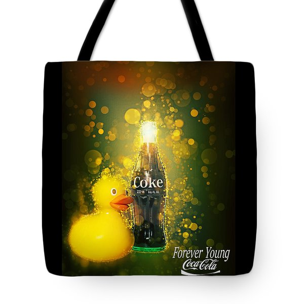 Tote Bag featuring the photograph Coca-cola Forever Young 5 by James Sage