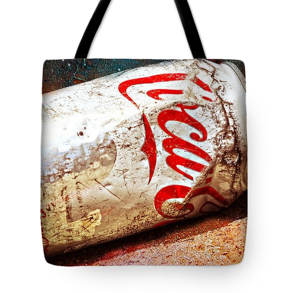 Tote Bag featuring the photograph Coca Cola On The Rocks By Mike-hope by Michael Hope