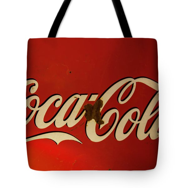 Tote Bag featuring the photograph Coca-cola Sign  by Toni Hopper