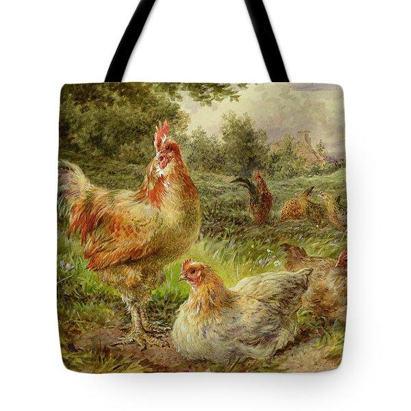 Cochin China Fowls Tote Bag by George Hickin