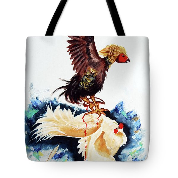 Cock Fighting Tote Bag